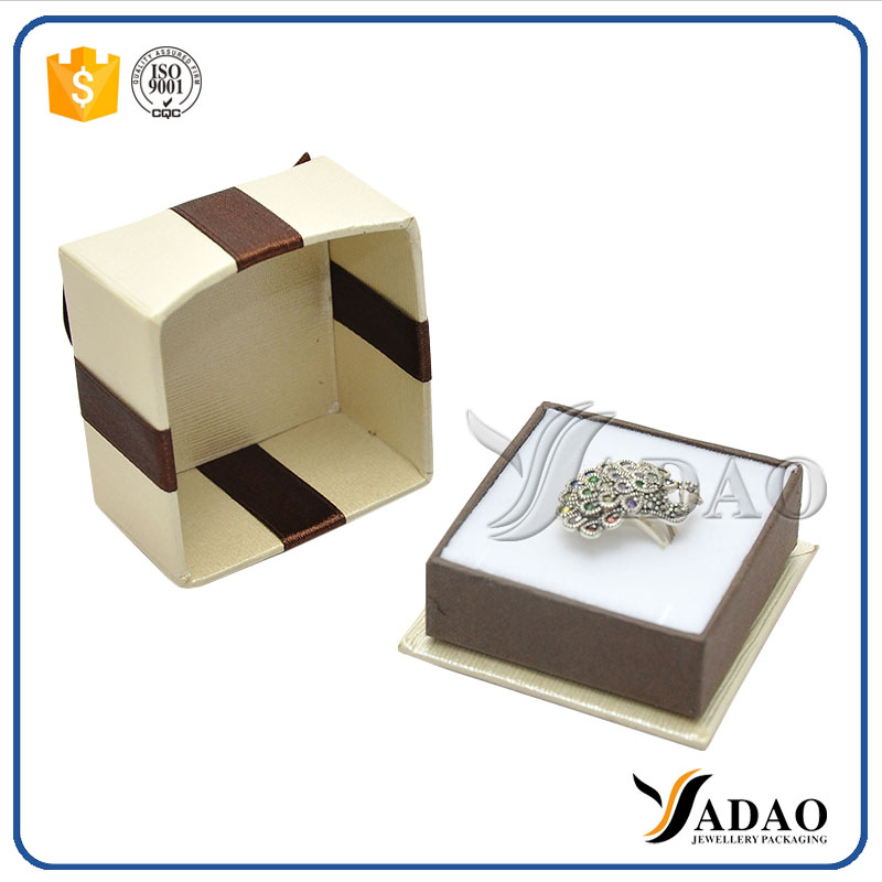 Bowknot paper jewelry packaging box jewelry cardboard for Small cardboard jewelry boxes with lids