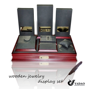 2014 Top Sale Most Popular Wooden Display Jewelry and  Jewelry Set Display Made in China