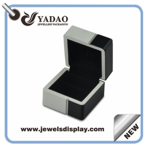 2015 Newest Jewelry Display Box Lacquered Wooden Packaging Box for Perfume Balck High Quality Wooden Box Hot Stamping Logo for Jewellery Packaging Box made in China