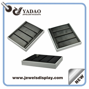 2015 newest hot sale good quality leather jewelry Ring Tray with your logo from China