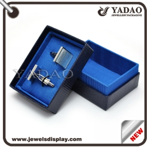 2016 latest design of free logo cufflinks box as gift  made in shenzhen