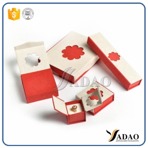 2017 attractive simple delicate design lovely light paper box for ring/earring/ppendant/bracelet/bangle with OEM by Yadao