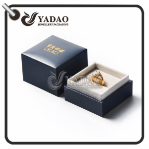 2017 new fashion---card board cover paper jewelry package box with soft velvet insert and removable lid made in Yadao
