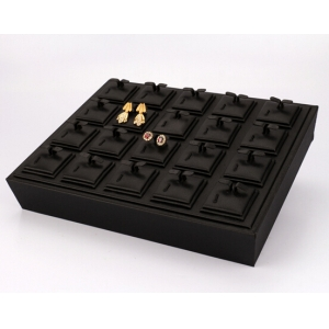 2017 new fashion unique design jewelry display tray with high quality leatherette
