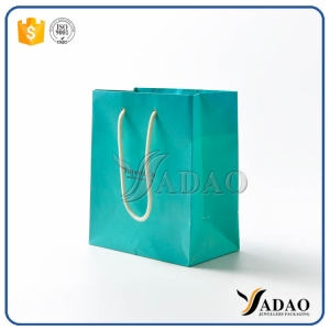 2017 pretty elegant handmade sale by bulk green/olive drab white strings good paper bags shoppinmg bags for jewelry / clothes packaging