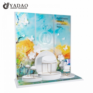 2018  new customized dreamlike luxury elegance  lacquered acrylic jewelry  fair display sets