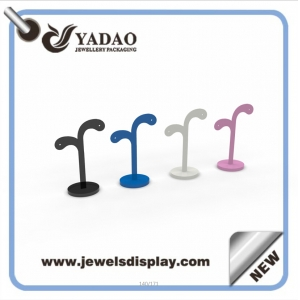 Acrylic fashion countertop jewelry display stand acrylic earring holder metal tree shape jewelry holder supplier from China