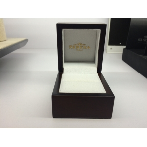 Antique classic wooden ring box with silver and glod printing logo made of high quality wood as beautiful as collections