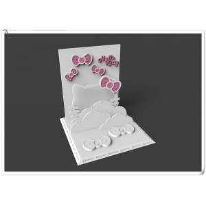 Beautiful acrylic jewelry display stand with hello kitty picture