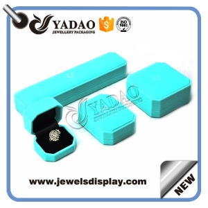 Beautiful leather covered plastic for ring/ bangle/ pandent/ necklace box make in China