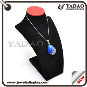 Black velvet OEM customized necklace jewelry display bust for jewelry store