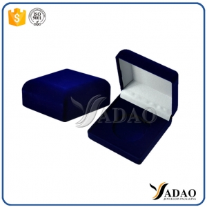 Blue simple velvet boxes for earrings,rings,necklace,bracelet,pendant,bangle accept customization