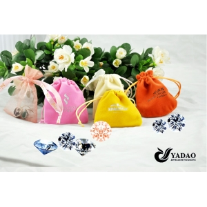 China Jewelry Supplier Velvet Jewelry Packaging Pouch Jewelry Display Bags