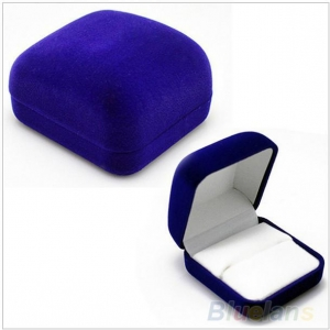 Chinese factory of  blue velvet  jewelry case set for rings earrings bracelets and necklace packing and display velvet gift boxes