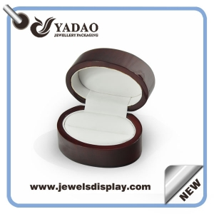 Chinese factory of wooden ring boxes , wooden ring cases ,wooden ring gift chests with silicone pad for jewelry gift and party favors