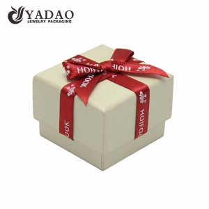Chinese jewelry  packing manufacturer of Luxury blue hard  paper boxes and chests for jewelry and gift packing and display used in shop counter and window with ribbon
