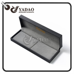 Classic black best quality pu paper with custom design for bracelet / pen/ watch box