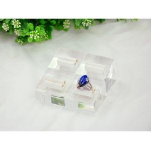 Clear Acrylic ring display stand for Gemstone jewelry