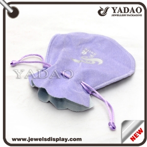 Compact and convenient jewelry velvet bag for jewelry packaging stand up pouch
