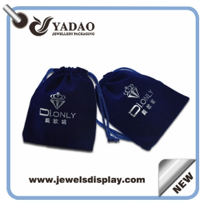 Compact jewelry velvet pouches accept customization