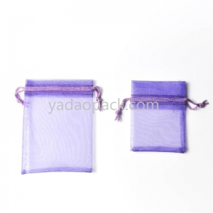 Corlorful fashion-designed customized size/color organza gift jewelry packaging pouch wholesale in China