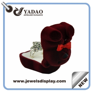 Creative Cute velvet jewelry/gift box manufacturer custom Flocking Jewelry Packaging Boxes Manufacture Jewelry Packing