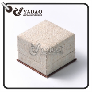 Custom Made Environmentally Friendly linen ring box with two kinds of insert made in Yadao.