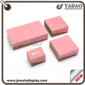 Custom cardboard box wrapped with velvet for jewelry gift and Cosmetic packing and storage paper box