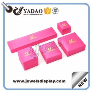 Custom color leatherette print and packaging plastic box for kinds of jewelry