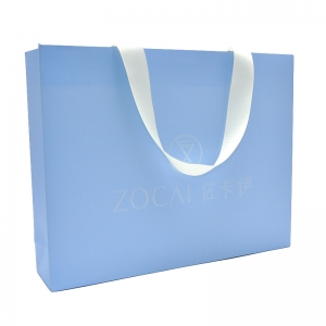 Custom elegant free logo printing matte paper finish shopping bag for gift and jewelry