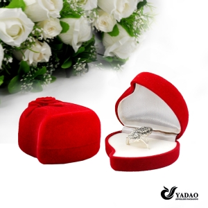 Custom handmade  promotional velvet packing box for jewelry gift and Cosmetic party favors and storage flocking box