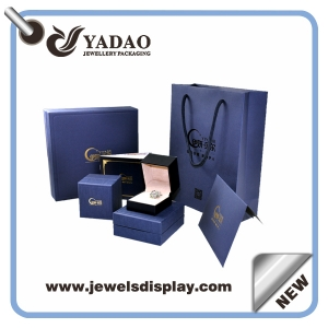 Custom jewelry packaging box,logo printed jewelry box sets for ring,neckalce and bracelet, paper jewelry box manufacturers china