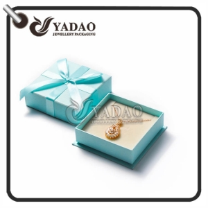 Custom made fancy paper necklace/choker/pendant box with customized size and color suitable for jewelry package.