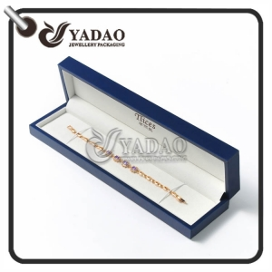 Custom made leatherette paper bracelet box with customized color and  your logo printed.