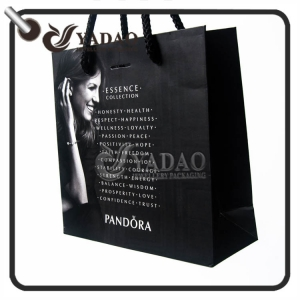 Matt on order complete paper gift bag with free printing logo made Yadao