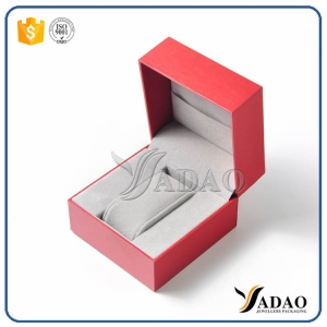 Customize red velvet plastic jewelry set include designed ring/bracelet/pendant/necklace/chain/watch/coin box