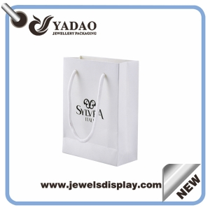Customized Glossy jewelry sh0pping paper bags with screen printing logo wholesale price China manufacturer