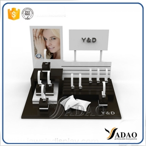 Customized black acrylic watch display stand set made in China