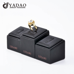 Customized leatherette ring display stand set suitable for showing rings in the counter and showcase and jewelry show.