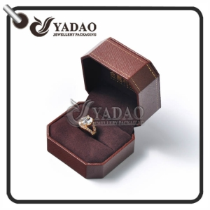 Customized octagon edge shape jewelry box set as luxurious as Cartier ring package
