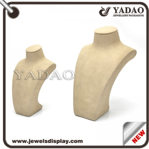 Customized resin with linen necklace display props necklace bust made in China