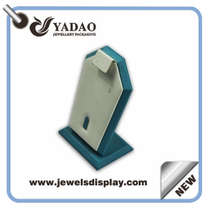 Economic leather custom color and size one set of  jewelry display stand for rings,earrings and pendant exhibitor and presentation wholesale