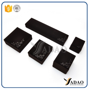 Economy black plastic jewelry gift box soft touch small gift boxes for sale