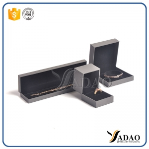 European light gray simple design packing Box for Jewelry collections display gift box high-end customd