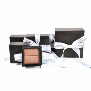 Exiquisite romantic bowknot jewelry leather paper box with separated lid