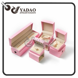 Fancy double use jewelry package set including ring box bracelet box earring box and necklace box CUSTOM MADE