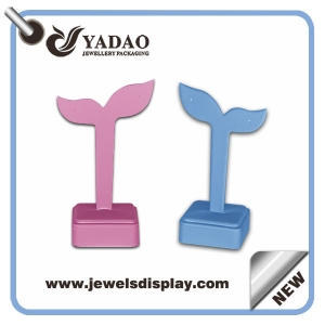 Fashion colorful leather earring display stand for jewelry store made in China