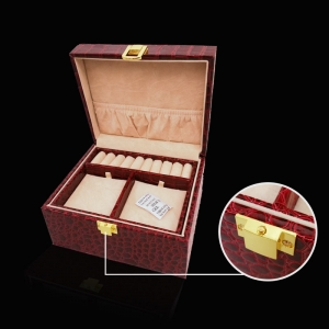 Fashion good quality wooden leather jewelry box wholes from China
