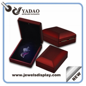 Fashion jewelry box for pendant box with LED Light box most popular from world