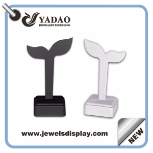Fashion leather earring display stand for jewelry display store made in China